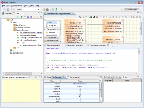 Modelio open source uml and bpmn free modeling tool java designer ccuart Choice Image